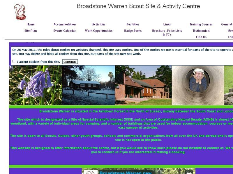 Broadstone Warren Scout Site and Activity Centre  sc 1 st  CaravannersRus & Broadstone Warren Scout Site and Activity Centre - CaravannersRus