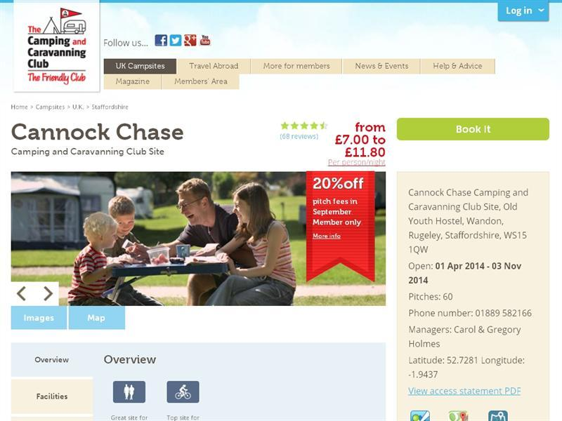 324630473d2 Cannock Chase Camping And Caravanning Club Site - CaravannersRus