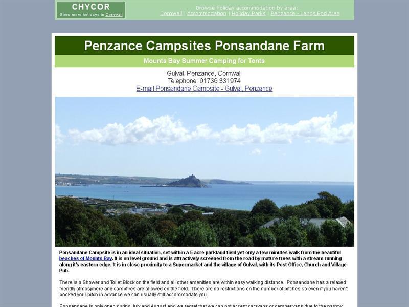 Ponsandane Camp Site - CaravannersRus