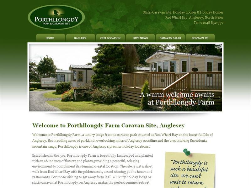Porthllongdy Farm Caravan Site Isle Of Anglesey Wales